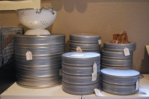 Movie reel tins