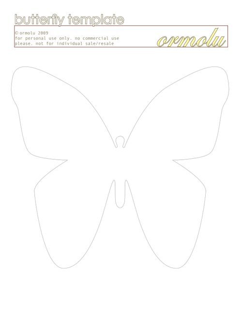 Kaitlin sheaffer for Martha stewart butterfly template