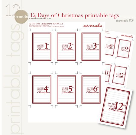 picture regarding 12 Days of Christmas Printable Templates identified as Kaitlin Sheaffer : How over a freebie?