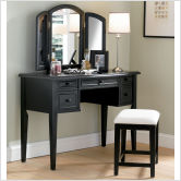 Powell-Furniture-43-Antique-Black-Vanity-Set