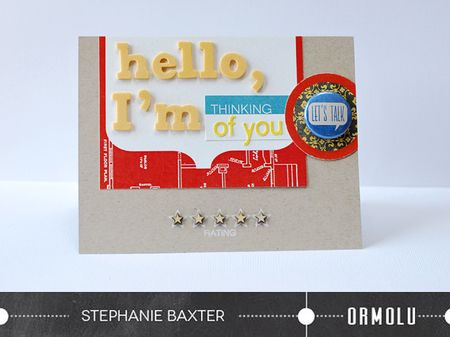 Hello, I'm thinking of you card