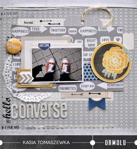 Oh, hello converse Kasia Tomaszewska for Ormolu